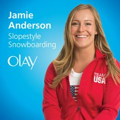 #PGFamily & Olay Fresh Effects athlete Jamie Anderson.