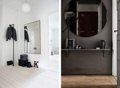 Inreda hall – stor spegel, rund spegel – Husligheter