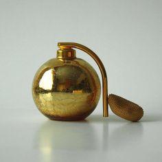 Gold DeVilbiss Perfume Atomizer Bottle