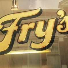 Gold leaf letters with Matt stipple centre for my favourite Willy Wonka chocolate shop #signwriting #goldleaf #alwayshandpaint #chocolate #fryschocolate
