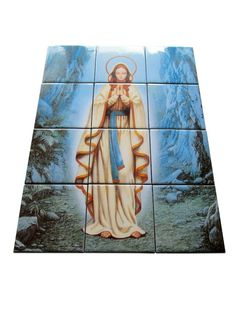Now available on #etsy: Our Lady of Lourdes - collectible mosaic - tile mural - LIMITED EDITION #ourlady #lourdes #mosaic #tilemural http://etsy.me/2jdw7jn