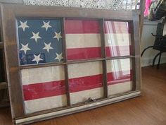 amazing! go america... could be very cool with matching window frame and an aussie flag