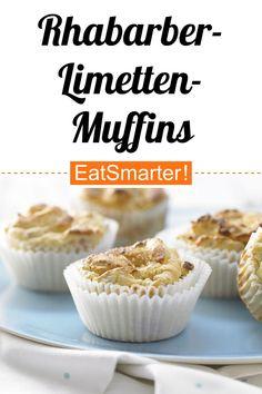 Clever naschen: Rhabarber-Limetten-Muffins - mit Vanille - kalorienarm - einfaches Gericht - So gesund ist das Rezept: 6,8/10   Eine Rezeptidee von EAT SMARTER   Backen, Diät, unter 250 kcal, Ohne Alkohol, Schwangerschaft, Stillzeit, Frühling, Frühlingskuchen, Ostergebäck, Was backe ich heute?, Dessert, Rhabarber-Dessert, Leichte Desserts #muffins #rezepte