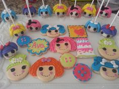 lalaloopsy cookies and cake pops party mix by CoutureSweetTreats, $80.00