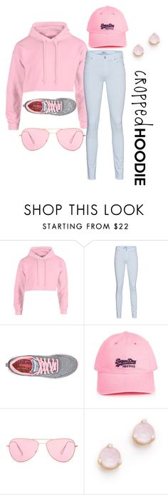 """""""Chillin' in Pink"""" by angeliathomas ❤ liked on Polyvore featuring 7 For All Mankind, Skechers, Lipsy, Isabel Marant and Kate Spade"""