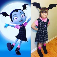 When Disney comes out with a new show but won't have the costumes till November.... you make your own! #vampirina #disneyjrchannel