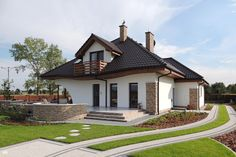 Projekt domu Dom w zefirantach Realizacje - ARCHON+ Family House Plans, Traditional House Plans, European House, House Painting, Home Fashion, Interior And Exterior, Bungalow, Ideal Home, Architecture Design