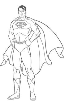 A Large Agency With Superman Coloring Pages