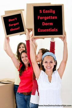 5 Easily Forgotten College Dorm Essentials: Dorm packing lists abound, and yet there are 5 items rarely seen on such lists that are a MUST for any student. College Dorm Essentials, College Hacks, College Life, College Dorms, College Checklist, Dorm Packing Lists, College Packing, College Survival, Dorm List
