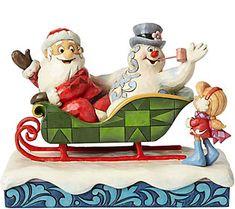 Jim Shore Santa, Frosty, and Karen in Sleigh Figurine