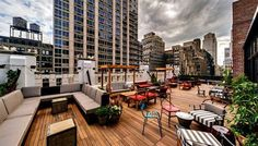 The Refinery Hotel is a year-round rooftop with an amazing view of the Empire State Building. Rooftop Bars Nyc, Rooftop Terrace, Rooftop Gardens, Rooftop Lounge, Refinery Hotel New York, Empire State Building, Lounges In Nyc, Terrace Restaurant, Gardens