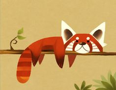 Red Panda by ~KleXchen on deviantART