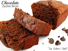 @KatieSheaDesign ✯♡♡♡✯  Chocolate Zucchini Bread- once you have tried it, you will never go back! SixSistersStuff.com #bread #dessert