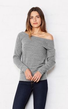 This Bella+Canvas Triblend Slouchy Wideneck Sweatshirt is a perfect piece for any season. Wear it casual, or dress it up with some statement jewelry. It's made from 50% polyester, 37.5% combed and ring-spun cotton and 12.5% rayon. This super soft triblend sponge fleece features wide rib cuffs and 30 single thread for an amazing, comfy feel. Staff suggestion: order a size up for a drop off the shoulder. 30 And Single, Bella Canvas, Chilling, Fashion 2020, Statement Jewelry, Formal Wear, Spun Cotton, Insta Pic, Style Me