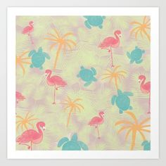 Tropical Pattern from Sunshine Inspired Designs available at Society6.