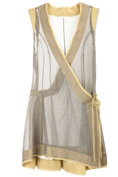 Grey sheer angrakha style tunic BY URVASHI KAUR.