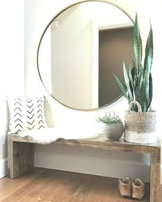 40 Incredible Stylish Small Entrance Ideas – Page 34 of 43 - Dekoration Ideen Home Design, Modern Interior Design, Design Ideas, Modern Mirror Design, Design Styles, Wall Design, Diy Design, Design Trends, Diy Home Decor On A Budget