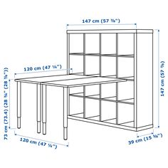 The IKEA Kallax series Storage furniture is an important section of any home. They supply buy and allow you to keep track. Stylish and wonderfully easy the ledge Kallax from Ikea , for example. Ikea Kallax Desk, Kallax Shelf Unit, Kallax Hack, Ikea Storage, Craft Room Storage, Storage Hacks, Craft Organization, Craft Tables With Storage, Ikea Craft Room