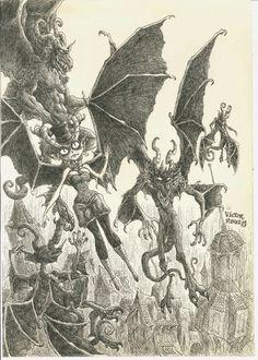 Víctor Rivas Ilustrations: Original: Monstruos voladores