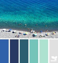 Design Seeds + Color Atlas by Archroma® Design Seeds, Green Colour Palette, Color Palate, Color Concept, Paint Color Schemes, Sea Colour, Holiday Images, Tropical Colors, Color Blending