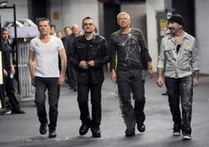 From left, Larry Mullen Jr., Bono, Adam Clayton and The Edge of the rock band U2. Photo: Evan Agostini, AP / HC