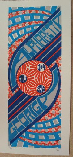Original silkscreen concert poster Phish in Alpharetta Georgia in 2010. 10 x 21 inches. It is printed on Watercolor Paper with Acrylic Inks. The poster is signed and numbered out of 190 by the artist Tripp.