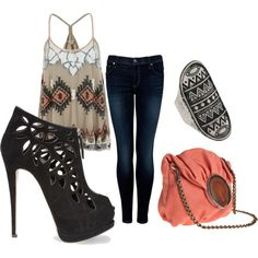 polyvore date night outfit