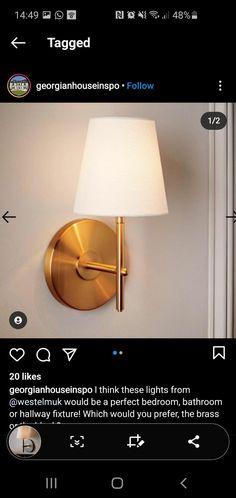 West Elm, Wall Lights, House, Home Decor, Appliques, Decoration Home, Home, Room Decor, Home Interior Design
