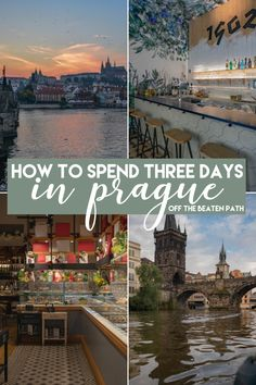 When traveling to Prague there are a few main attractions that you simply can't miss! This three day itinerary includes the must-see main attractions but focuses on getting you off the beaten path in Prague!