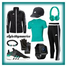 """""""Men Athletic Apparel"""" by mauricee-brewer on Polyvore featuring adidas, Under Armour, adidas Originals, Fitbit, men's fashion and menswear"""