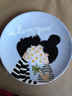 I love you plate