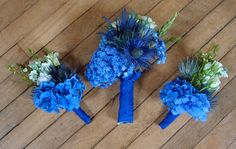 Some bouquets from Kezia's blue themed wedding - gorgeous 'you and me together' hydrangea was the star of the show