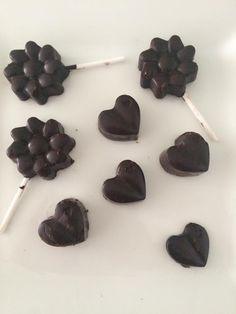 Piruletas y bombones de chocolate, ricos, sanos y sencillos..... pá chuparse los dedos