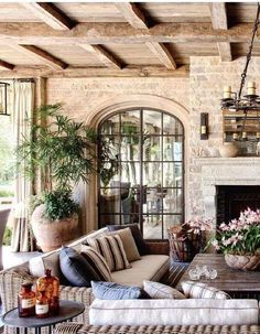 Architectural digest 2013 10 by moncsi Outdoor Rooms, Outdoor Living, Exterior Design, Interior And Exterior, Exterior Doors, Home And Living, Living Room, My Dream Home, Great Rooms