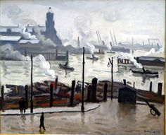 French painter* and draughtsman Pierre-Albert Marquet (1875-1947) studied at the Ecole des Beaux-Arts, where he met Henri Matisse* in 1890. Matisse became a life-long friend; both artists were accepted in Gustav Moreau's painting class in 1897. In 1900 they worked together on the decoration of the Grand Palais at the Paris World Exhibition.