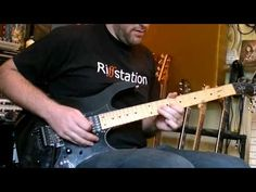 "Martin G riffstation.com Playing Dream Theater's solo from ""Lines in The Sand"" using the inbanez guitar."
