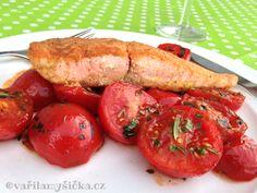Losos na rajčatech