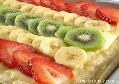 Tarta de fruta y crema | Recetas Thermomix | MisThermorecetas