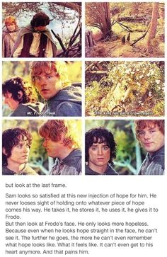 Frodo and Sam. The Lord of the Rings. Hobbits. Hope. Frodo Baggins. Samwise Gamgee. The fellowship of the ring. The two towers. the return of the king. the king has his crown again. #MiddleBackPain