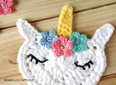 Crochet Unicorn Applique Free Crochet Pattern