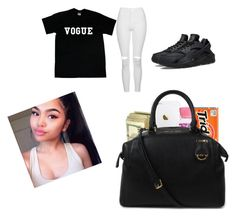 """Shopping💰👜💸"" by shadea04 ❤ liked on Polyvore featuring Topshop, NIKE and Michael Kors"
