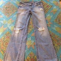 American Eagle Boyfriend Jeans Awesome Jeans! Designer Distressed. Light wear and tear but incredible condition! American Eagle Outfitters Jeans Boyfriend