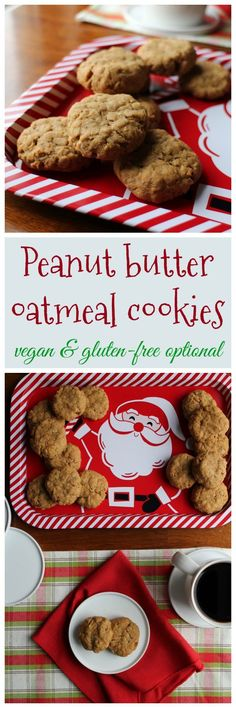 peanut butter oatmeal cookies recipe from but my family would never eat vegan by kristy turner - Vegan Christmas Gifts