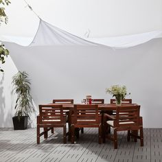 Dyning parasol - triangular, white - IKEA Germany Even though old around thought, a pergola Garden Canopy, Patio Canopy, Ikea Canopy, Roof Extension, Outdoor Shade, Pergola Shade, Outdoor Privacy, Parasols, Courtyards