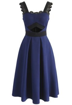 Certainly Refinement Cami Dress in Navy - New Arrivals - Retro, Indie and Unique Fashion