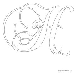 Calligraphy Letter Stencil H