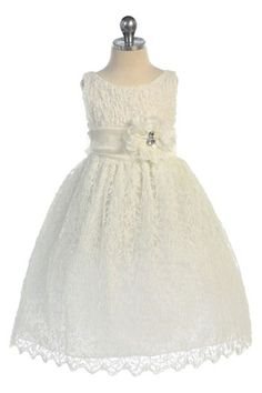 Elegant Soft Lace Dress. Add a coral or turquoise bow