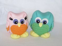 Items similar to Fondant Owl Cake Topper on Etsy