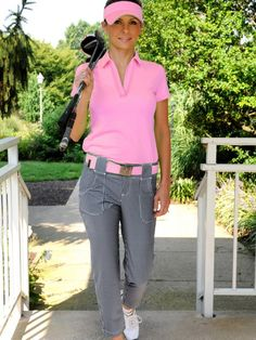 Belted Cropped Golf Pant – Black Gingham