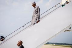 Photos of President Buhari arriving the US
